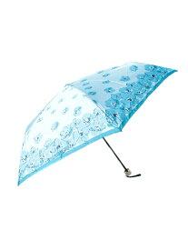 LANVIN en Bleu LANVIN en Bleu/(W)折りたたみ傘 花柄 プリント ムーンバット ファッショングッズ 日傘/折りたたみ傘 ブルー ピンク ベージュ グレー