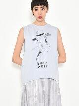 ノースリーブプリントTシャツ