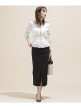 I-line slim fit skirt
