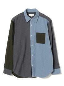 B:MING by BEAMS B:MING by BEAMS / クレイジービエラレギュラーカラーシャツ BEAMS ビームス ビーミング ライフストア バイ ビームス シャツ/ブラウス 長袖シャツ ブルー グレー【送料無料】