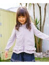【SALE/30%OFF】any FAM KIDS UV加工 サラサラパーカー エニィファム コート/ジャケット ブルゾン パープル ホワイト