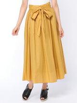 リボン付きロングスカート
