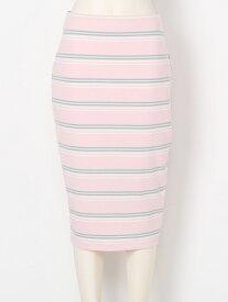【SALE/45%OFF】SNIDEL カットボーダーミニSK スナイデル スカート ミニスカート ピンク ホワイト イエロー【送料無料】