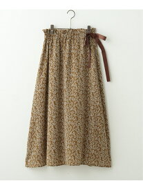 【SALE/70%OFF】frames RAY CASSIN 脇リボンサテンスカート レイカズン スカート 台形スカート/コクーンスカート ブルー ブラウン ブラック