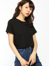anapmimpiショート丈シンプルTシャツ