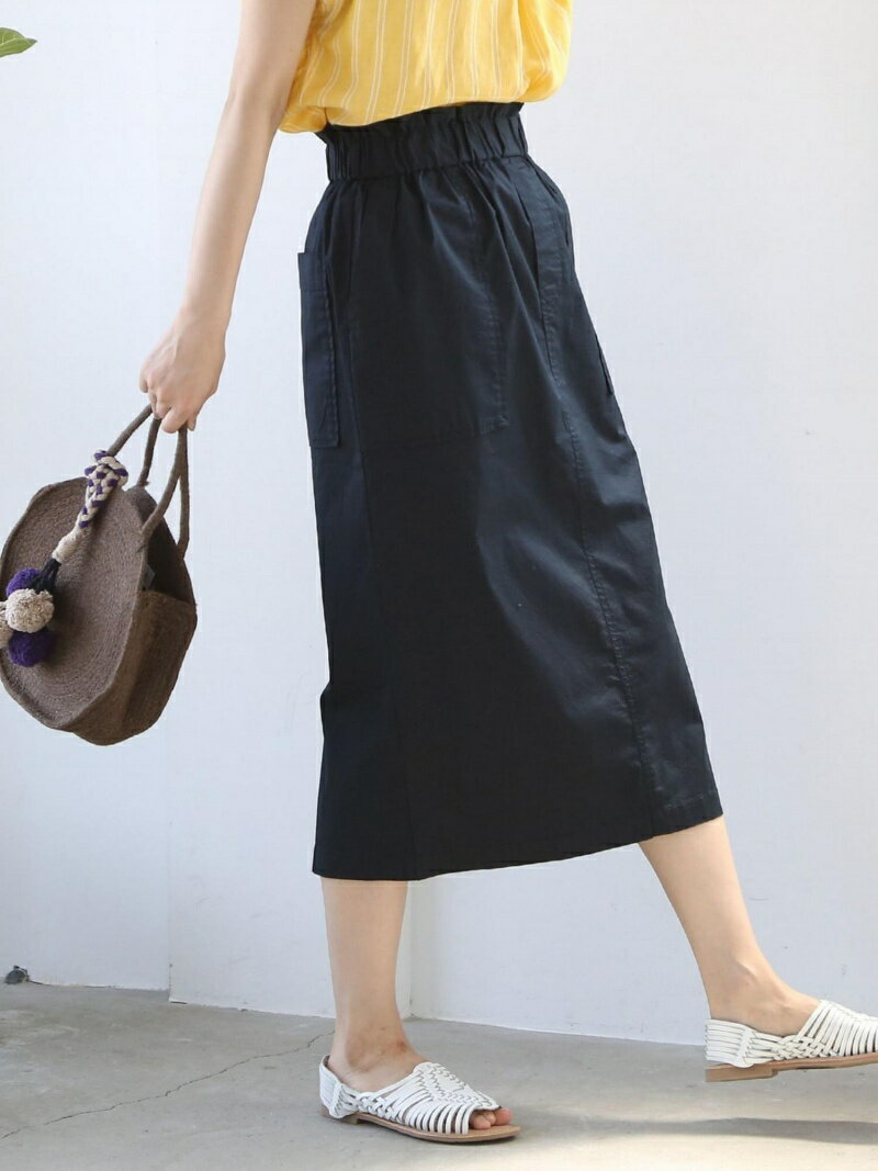 【SALE/52%OFF】coen ツイルイージーロングタイトスカート コーエン スカート【RBA_S】【RBA_E】