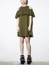 JERSEY RAFFLE DRESS