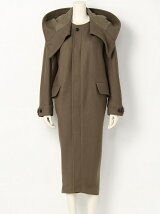 diagonal melton convex shaped mods coat