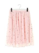 刺繍チュールレーススカート