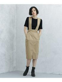 【SALE/50%OFF】Dickies ワイド2wayジャンパースカート ナノユニバース スカート スカートその他 ベージュ ネイビー【送料無料】