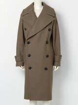 diagonal melton convex shaped pea coat
