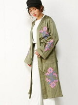 CLEMATIS EMBROIDERY GOWN
