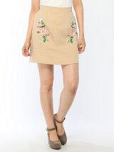脇刺繍スカート