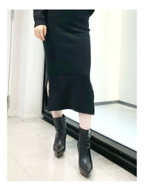 GYDA ミラノリブタイトニットスカート ジェイダ スカート タイトスカート ブラック ブルー ベージュ【送料無料】