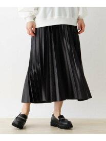 【SALE/10%OFF】SHOO・LA・RUE 【S-L】レザーフィールプリーツスカート シューラルー スカート ロングスカート ブラック ブラウン ピンク