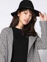 【SALE/50%OFF】VICKY ウールフェルトハット ビッキー 帽子/ヘア小物 ハット ブラック グレー【送料無料】