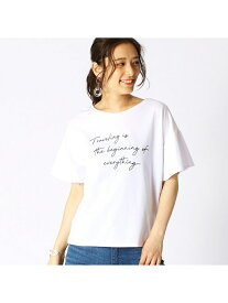 COMME CA ISM ロゴプリントTシャツ コムサイズム カットソー