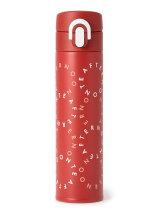 ロゴ柄ワンタッチスリムボトル 400ml/サーモス
