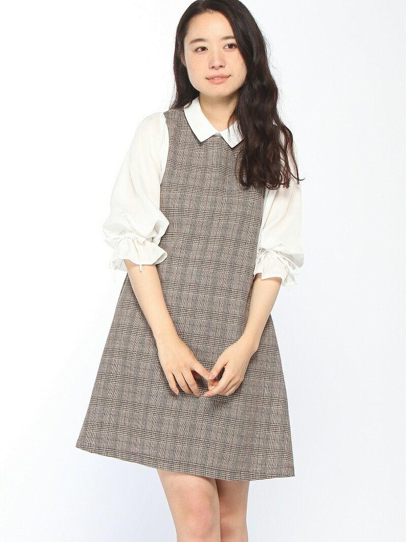 キャンディースリーブ衿付きワンピース オリーブ・デ・オリーブ【送料無料】