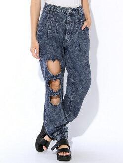WEGO (L) 心慢跑褲維哥褲 / 牛仔褲