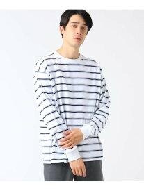 【SALE/60%OFF】tk.TAKEO KIKUCHI マルチボーダーTシャツ(長袖) ティーケータケオキクチ カットソー Tシャツ ホワイト カーキ オレンジ
