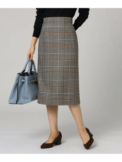 UNTITLED gulose check skirt Ann title skirt skirt and others yellow red