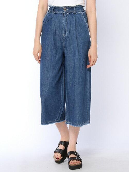 【安井レイさん着用】デニムフリンジワイドパンツ