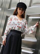bouquetflowerドレープシャツ