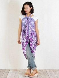 【SALE/50%OFF】Kahiko Hawaiian FLOWER☆ティアレサローン チャイハネ ファッショングッズ マフラー/スヌード パープル オレンジ ブルー