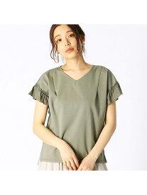 【SALE/50%OFF】COMME CA ISM フリル袖デザインカットソー コムサイズム カットソー Tシャツ カーキ ホワイト ネイビー イエロー