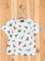サボテン恐竜総柄半袖Tシャツ