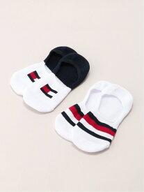 【SALE/50%OFF】TOMMY HILFIGER (W)TOMMY HILFIGER(トミーヒルフィガー) 2パック ソックス トミーヒルフィガー ファッショングッズ ソックス/靴下 ホワイト