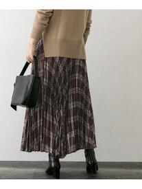 【SALE/50%OFF】ROSSO チェックプリーツスカート アーバンリサーチロッソ スカート スカートその他 ブラウン ベージュ【送料無料】