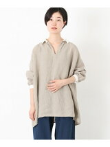 ICHI Antiquites linen tunic shirts
