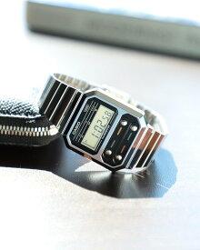 BEAMS MEN CASIO / A100WE-1AJF デジタルウォッチ シルバー ビームス メン ファッショングッズ 腕時計 シルバー【送料無料】