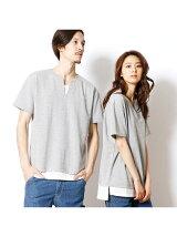 フェイクレイヤード半袖Tシャツ