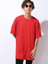 【U】ビッグシルエット ドロップショルダー Tシャツ