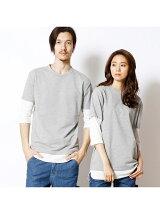 フェイクレイヤード5分袖Tシャツ