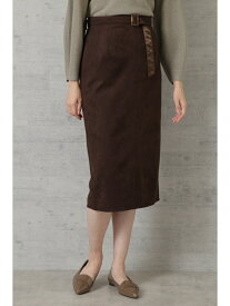 NATURAL BEAUTY BASIC [洗える]フェイクスエードスカート ナチュラルビューティベーシック スカート スカートその他 ブラウン ベージュ【送料無料】