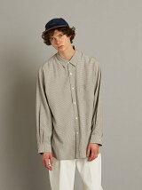 <Steven Alan> VOIL/CHECK REGULAR COLLAR BOX SHIRT-LOOSE/シャツ