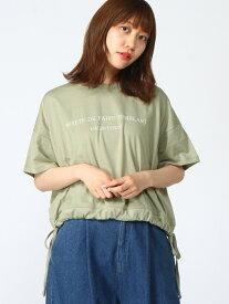 【SALE/60%OFF】WEGO 0/(L)シンプルロゴドロストT ウィゴー カットソー Tシャツ グリーン ベージュ ピンク