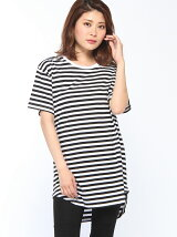 【EMMA NOVEMBER】ロング スクープ ボーダーTシャツ