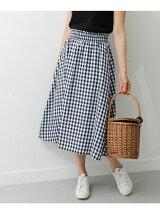 ギンガムシャーリングスカート
