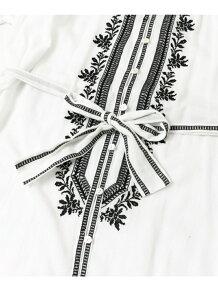 配色刺繍2WAYガウンワンピース