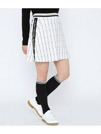 【SALE/50%OFF】JUN&ROPE' ロゴテープ使いフレアスカート ジュンアンドロペ スカート スカートその他 ホワイト ブラック レッド【送料無料】