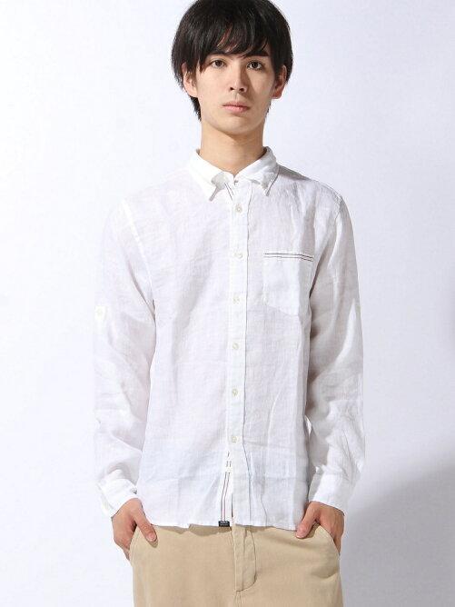 (M)ミストダイ リネンBDシャツ