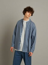 <Steven Alan> SOKTAS/TWILL BAND COLLAR SHIRT-LOOSE/シャツ