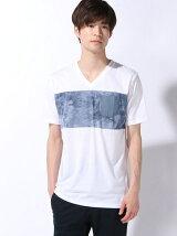 (M)タイダイパネルキリカエTシャツ