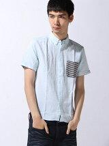 (M)ポケットボーダーシャツ