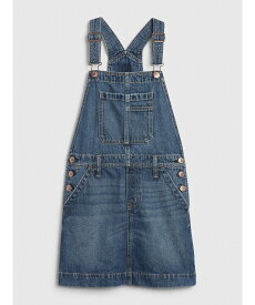 【SALE/24%OFF】GAP (K)デニムサロペットスカート (キッズ) ギャップ スカート キッズスカート ブルー